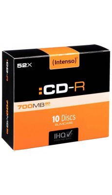 CD-R Intenso slim 700Mo 80mm - Boîte de 10