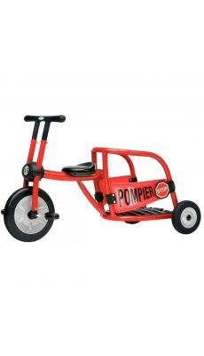 Tricycle 4/8ans pompier rouge