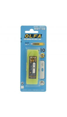 OLFA - SKB-7/10B - Lames trapézoïdales en acier pour 69982 - Blister de 10