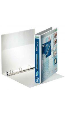 LEITZ - 4200-00-01 - Classeur personnalisable soft click couleur A4+ - dos 40 mm - couleur blanc
