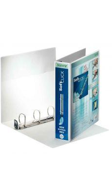 LEITZ - 4203-00-01 - Classeur personnalisable soft click A4+ - dos 65 mm