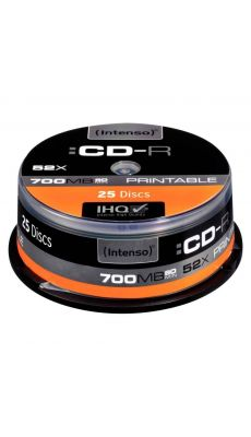 CD-R imprimables 700MO 52X - Spindle de 25