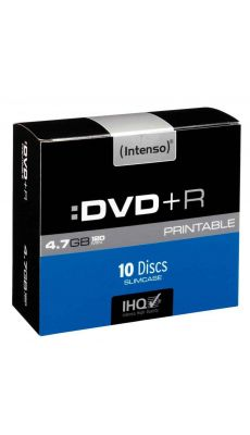 Intenso - 004652 - DVD+R Printable 4,7 Go - Vitesse 16X - Boîte de 10
