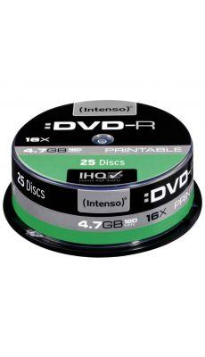 Intenso - 004621 - DVD-R Printable 4,7 Go - Vitesse 16X - Boîte de 25