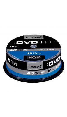 Intenso - 004676 - DVD+R Printable 4,7 Go - Vitesse 16X - Boîte de 25