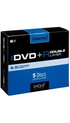 Intenso - 006946 - DVD+R Double Couche 8,5 Go - Boitier Jewel et vitesse 8 X - Paquet de 5