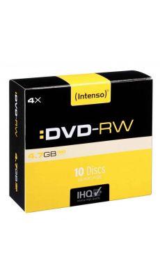 Intenso - 006236 - DVD-RW vierge 4,7 Go - Vitesse 4X - Boîte de 10
