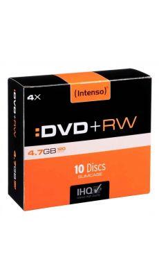 Intenso - 005482 - DVD+RW vierge 4,7 Go - Vitesse 4X - Boîte de 10