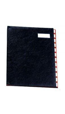 Extendos - 97-12 NOIR - Trieur luxe à cavaliers métalliques 12 compartiments - Noir
