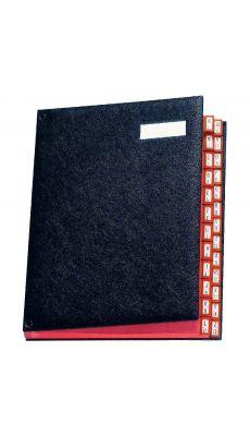 Extendos - 97-25 NOIR - Trieur luxe à cavaliers métalliques 25 compartiments - Noir