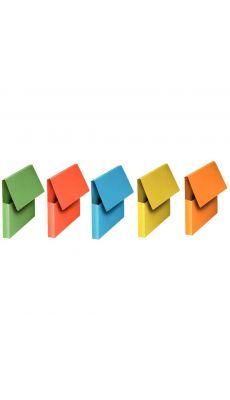 Pochettes vip à rabat Fast 24x32 coloris vifs assortis - lot de 10