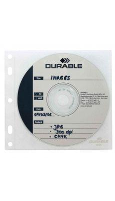 Durable - 5239-19 - Recharge pochette pour classement de 1 CD / DVD 70536  - Paquet de 10
