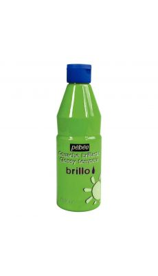 PEBEO - 374509 - Gouache brillante brillo vert lumiere - flacon de 500ml