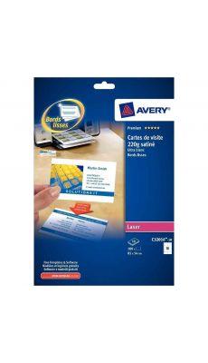 Avery - C32011-25 - Cartes de visite imprimables 85x54mm Mat 200g - Paquet de 250