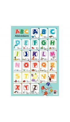 """Poster pedagogique en pvc 76x52cm """"l'alphabet"""""""