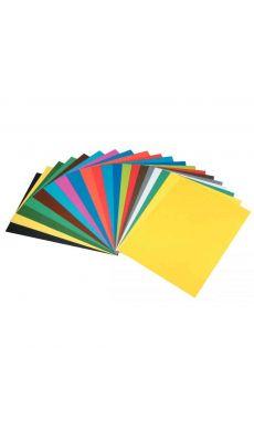 MAILDOR - 455515C - Papier dessin de carta 50x65cm 270g jaune - Paquet de 10