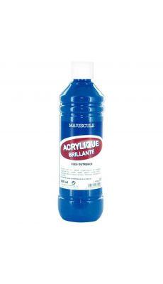 Peinture acrylique brillante bleu outremer - flacon de 500ml