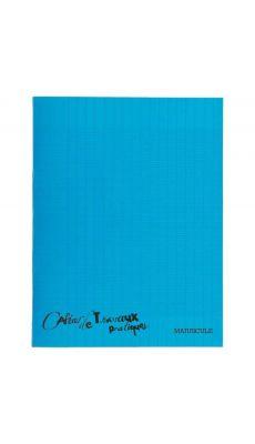 Cahier de travaux pratiques piqures polypropylene 17x22 ( grand carreaux + dessin ) 64p