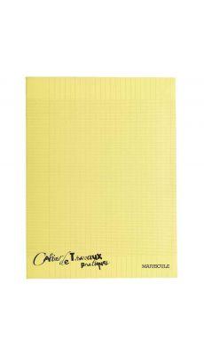 Cahier de travaux pratiques piqures polypropylene 24x32 ( grand carreaux + dessin ) 96p