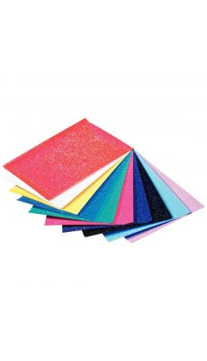 Papier paillette 23x33cm 70g - pochette de 10 feuilles