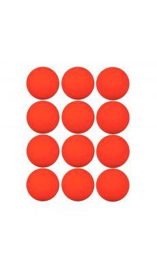 Balles hockey orange - Lot de 12