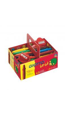 OMYACOLOR - 462700 - Craie a la cire bebe incassable + 2 taille crayons - boite de 40