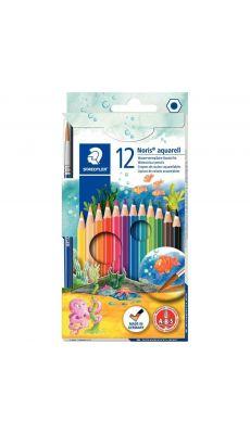 STAEDTLER - Crayon de couleur Staedtler noris club aquarell - etui de 12