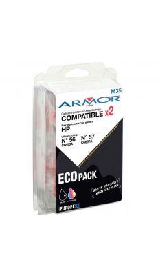ARMOR - B10103R1 - Cartouche dual pack compatible HP C6656A / C6657A  noir et couleur