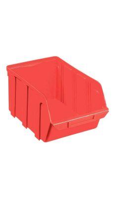 Bac a bec en polypropylene 330x155x205 rouge