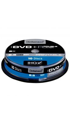 Intenso - 009190 - DVD+R Double Couche printable - 8,5 Go - Lot de 10