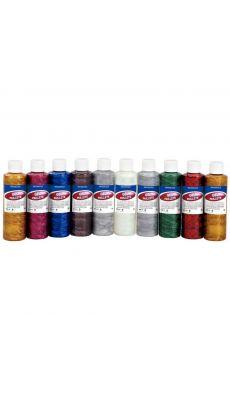Gel paillete coloris assortis - boite de 10 flacons de 250ml