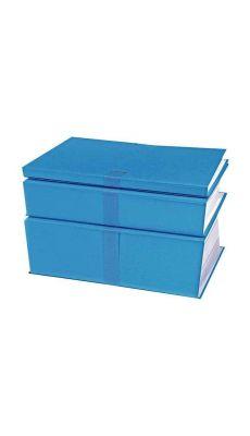 Exacompta - 732E - Chemise extensible avec sangle - 24X32 cm - Bleu foncé