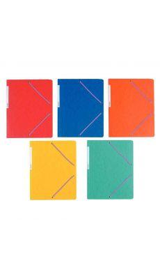 Coutal - C3116 - Chemise carte lustrée sans rabat avec élastique - Assortie - 24x32 cm - Carton de 50