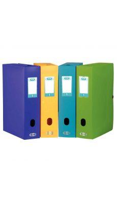 Elba - 100200172 - Boîte de classement en polypropylène - Assortie - Dos 80 mm - Carton de 8