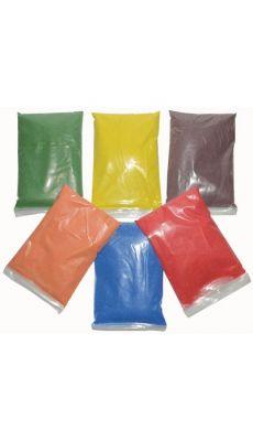 Sable colore + 6 salieres vides - Lot de 6 sacs de 500g