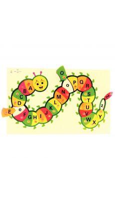"""Puzzle """"chenille alphabet"""" en bois"""