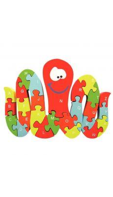 Puzzle pieuvre 3d alphabetique