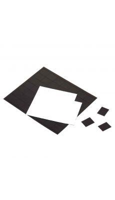 Plaque de 84 aimants adhesifs 25x20mm - pochette de 2