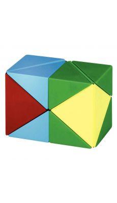 Cube magnetique 3d, 4 couleurs
