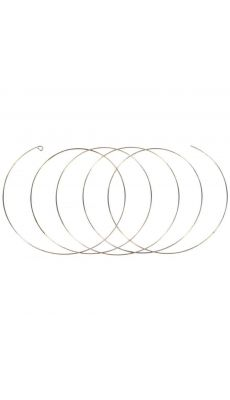 PW INTERNATIONAL - sachet de 10 Bracelets fil memoire, 5 spirales - sachet de 10