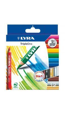 LYRA - 3641121 - Crayon de couleur triple one d6.25mm - etui de 12
