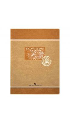Cahier piqures Conquerant grand carreaux 17x22, papier 100% recycle 96p 70g