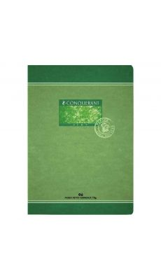 Cahier piqures Conquerant recycle grand carreaux A4 96p 70g