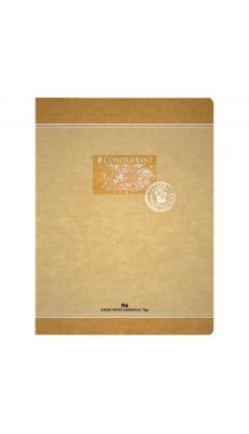 Cahier piqures Conquerant recycle grand carreaux 24x32 96p 70g