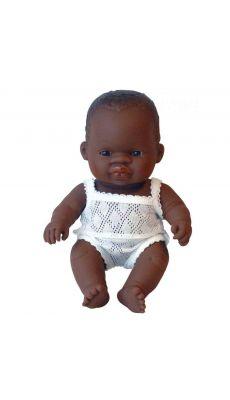 Poupee fille 21cm, africaine