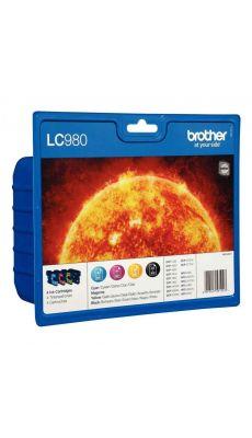 Brother - 561023 - Cartouche couleur LC980 - Pack de 4