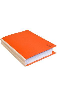 Exacompta - 770007E - Chemise rigide dos toile 30mm orange - Paquet de 25