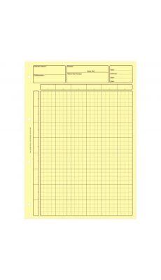 Bloc 80 feuilles de travail audit, matrice pour controle interne jaune