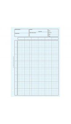 Bloc 80 feuilles de travail audit, matrice pour controle interne bleu