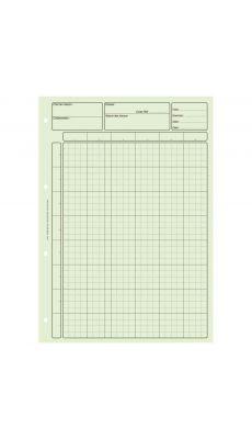 Bloc 80 feuilles de travail audit, matrice pour controle interne vert